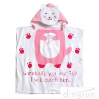 Wholesale OEM Super Soft Personalized Cotton Hooded Poncho Towels Eco - Friendly from china suppliers