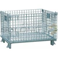 Wholesale Foldable Galvanized Wire Container Storage Cages , Mobile Storage Cages With Side from china suppliers