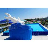 Quality Commercial Inflatable Water Slide Park 0.9mm PVC Tarpaulin Blow Up Water Park for sale