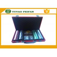 Wholesale Luxury 11.5 Gram 200 Pcs Colored Poker Chips With Red Leather PU Case from china suppliers