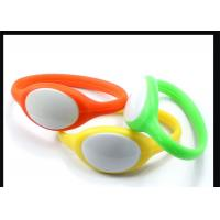 Wholesale Hospital Use HF 13.56Mhz RFID Wristband Silicone Bracelet ISO14443A Protocol from china suppliers