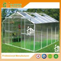 Wholesale 10'x8'x6.7'FT Silver Color Double Door Traditional Series Aluminum Greenhouse from china suppliers