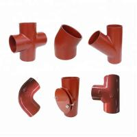 Wholesale EN877 Standard Red Coated Cast Iron Pipe Fittings from china suppliers