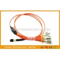 Wholesale MTP to LC / SC / ST / FC Fiber Truck Cable , 12 Standard Harness Fiber Patch Cord from china suppliers