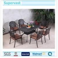 Wholesale Garden Cast Aluminum Patio Furniture , Barbecue 7 Piece Outdoor Dining Set from china suppliers