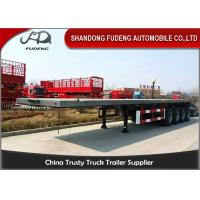 Wholesale 4 axles flatbed container semi trailer 60 ton capacity with container lock from china suppliers