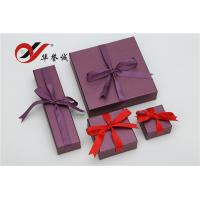 Purple Special Paper Gift Box With Bowknot , Jewelry Gift Boxes For Necklaces