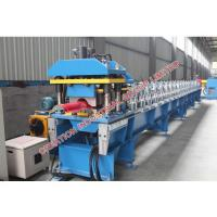 Wholesale Red Rounded Ridge Cap Roll Forming Machine With Pressed Steps from china suppliers