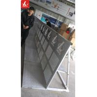 Quality Metal Silver Crowded Pedestrian Control Barriers Aluminum 6082 Crowd Control Stands for sale