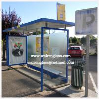 Wholesale Modern Bus Shelter/Stop with Silk Screen Tempered Glass from china suppliers