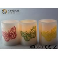 Wholesale Decoration Real Wax Electronic Candles with butterfly pattern , Carved Candles from china suppliers