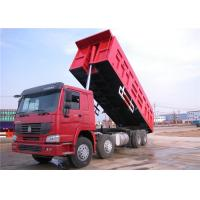 Wholesale HOWO 8x4 Heavy Duty Dump Trailers , 30 ton 40 Ton 12 Wheeler Dump Truck from china suppliers