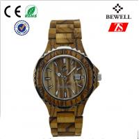 Wholesale Water Resistant Wood Hand Watch , Steel Bezel Wooden Ladies Watch from china suppliers