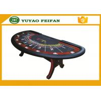 Wholesale 8 person used Professional Modern Half Round Type Texas Holdem Poker Table with 8 cup holders from china suppliers