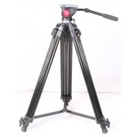 Buy cheap Heavy Duty Video Camera Tripods with Fluid Drag Head / Movie Camera Tripod from wholesalers