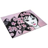 Wholesale Hand-tufted Patterned Pink Acrylic Pile Rugs, Kids Play Carpet Rug For Girls from china suppliers