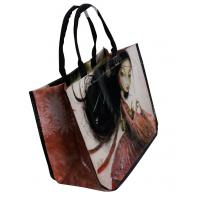 Quality Shopping  Reusable Carrier Bags Beauty Round Conner , printed canvas bags for sale