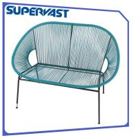 Wholesale Multi color Steel Frame Resin Wicker Patio Furniture Circular Wicker Weaving Outdoor Egg loveseat from china suppliers
