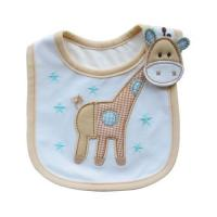 Wholesale Cute Goat Custom Baby Bibs , Embroidered Baby Bibs Light Blue from china suppliers