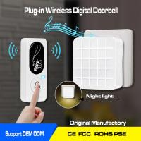 Wholesale battery operated wireless door bell ,1000ft working range,52chimes and the night lights from china suppliers