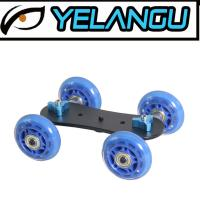 Wholesale Lightweight Blue DSLR Rig Track Skater Table Portable Camera Dolly Slider from china suppliers