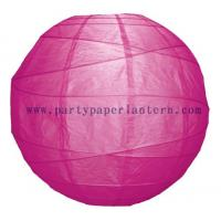 Quality Beautiful Fuchsia Pink Round Party Paper Lantern 8 Inch Size Festival Theme for sale