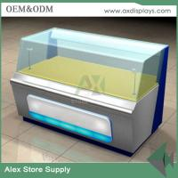 Quality Customized glass mobile counter design cabinet mobile display showcase for sale