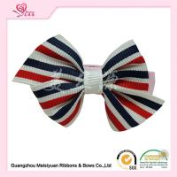 Wholesale Colorful Striped Hair Bows Clips kids / toddler hair accessories Customized service from china suppliers