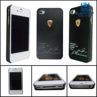 Wholesale Black 100% brand new Iphone4 / 4S protect case silica gel case / cover with Ferrari logo from china suppliers