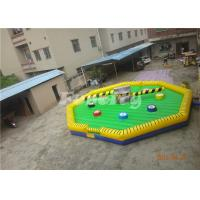 Wholesale 8.5M Interactive Meltdown Inflatable Sport Games , Green Wipeout For Outdoor Jumping from china suppliers