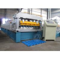 Wholesale Mitsubishi PLC Improve Structure Metrocop Tile Roll Forming Machine Working Speed 5-6m/min from china suppliers
