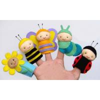 Wholesale Cute Honeybee Plush Finger Puppets / Kids Finger Puppets Felt OEM from china suppliers