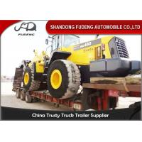 Quality Transport Heavy Large Machine Low Flatbed Trailer , 45 Ton - 55 Ton Low Bed Trailer for sale