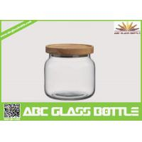 Wholesale Wholesale clear food glass jar with wooden lid from china suppliers