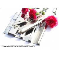 Buy cheap Anti - Scratch 10mm Stainless Steel Tile Trim With Square Edge / Metal Bullnose Corners from wholesalers