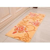 Wholesale Absorbable Microfiber bathroom floor mats non slip of yellow rose flower style from china suppliers