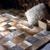 Buy cheap MP Series Luxury Leather Patchwork Carpet Customized 100% Natural Cow Rugs From China Carpetsfactory.com from wholesalers