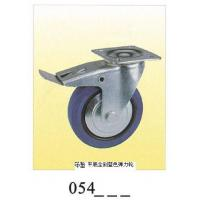 Wholesale Medium duty Caster  swivel plate with full brake elastic rubber caster 054 from china suppliers