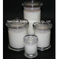 Wholesale top popular different size glass candle jars with lid in stock from china suppliers