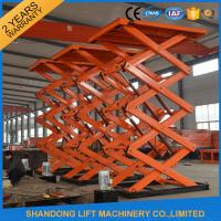 Wholesale Material Handling Warehouse Elevator Lift , Hydraulic Upright Scissor Lift Workbench from china suppliers
