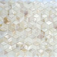 Wholesale Natural Mother Of Pearl White Shell Mosaic Tile Backsplash 25x25mm from china suppliers