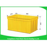 Wholesale Warehouse Plastic Stackable Containers Big Capacity Space Saving Foldable Transport from china suppliers