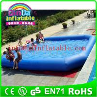 Wholesale PVC Inflatable Swimming Pool water game pool inflatable pool with cover from china suppliers