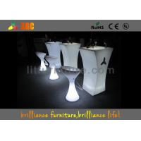 Wholesale Outdoor LED Cocktail Table With Ice Bucket , 16 Colors Changeable from china suppliers