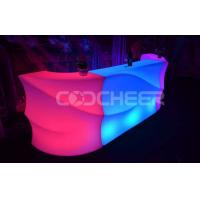 Wholesale Plastic Nightclub Led Bar Counter Led Glow Furniture Rechargeable from china suppliers