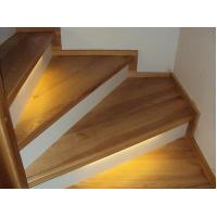Wholesale Triangle shape natural white oak solid wood stair treads from china suppliers