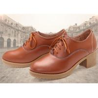 Wholesale Leather Thick Comfortable Casual Shoes High Heel With Lace Korean Leisure Comfort Autumn from china suppliers