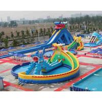 Quality 2 Years Warranty Animal Inflatable Water Parks With Frame Pool / Cartoon Slide for sale