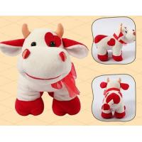 Quality Promotion Gifts Lovely Red Cow Shape Custom Small Stuffed Animals For Children for sale