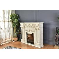 Quality Customizable White Wall Mounted Fireplace For Home Decoration for sale